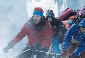 "Courtesy of Universal Pictures Jason Clarke leads alpinists to the peak of hell in ""Everest"" at the Esquire IMAX."