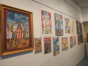 A surrealistic art exhibit is now on the walls at DADAS. Photos by Corky Oakes