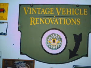 Shown here is the logo of the old Vintage Vehicle Renovations business that was located at the corner of 21st and S streets. Photos by James Peyton