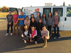 Club members after loading up the SSIP truck with boxes. Photos by Irisa Zhang