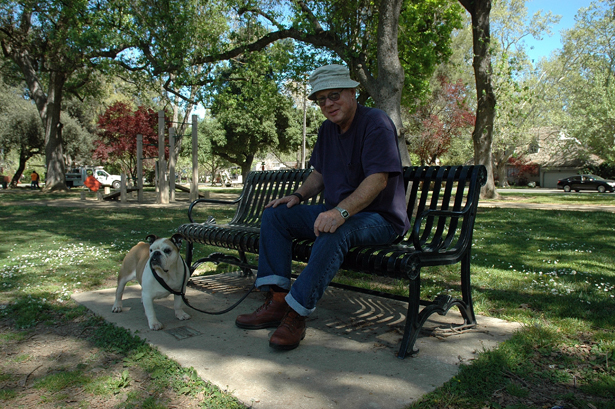 Land Park community plans memorial bench commemorating Jack Peyton and his bulldog Rosebud