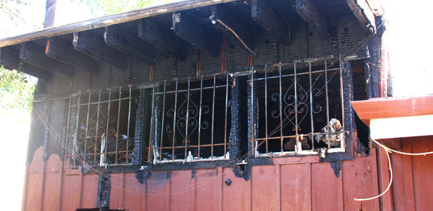 Historic Trails restaurant building damaged by fire